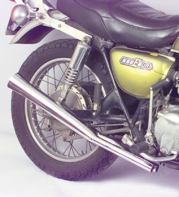 Flair Tip Slip On Mufflers on CB500-4
